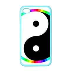 Rainbow Around Yinyang Apple iPhone 4 Case (Color)