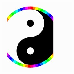 Rainbow Around Yinyang Small Garden Flag (two Sides)