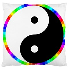 Rainbow Around Yinyang Large Cushion Case (One Side)