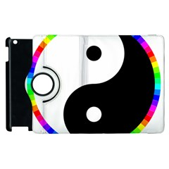 Rainbow Around Yinyang Apple Ipad 2 Flip 360 Case