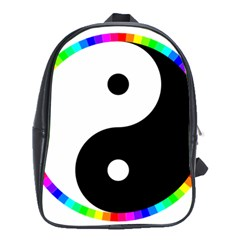 Rainbow Around Yinyang School Bags (xl)
