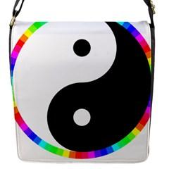 Rainbow Around Yinyang Flap Messenger Bag (S)
