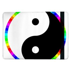 Rainbow Around Yinyang Samsung Galaxy Tab Pro 12 2  Flip Case