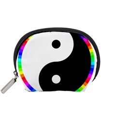 Rainbow Around Yinyang Accessory Pouches (small)