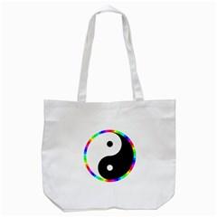 Rainbow Around Yinyang Tote Bag (white)