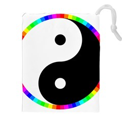 Rainbow Around Yinyang Drawstring Pouches (xxl)