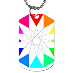 Rainbow Dodecagon And Black Dodecagram Dog Tag (one Side)