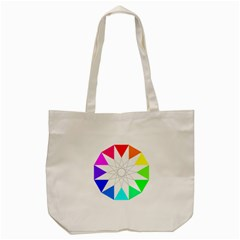 Rainbow Dodecagon And Black Dodecagram Tote Bag (Cream)