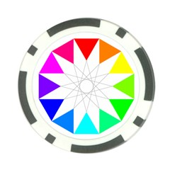 Rainbow Dodecagon And Black Dodecagram Poker Chip Card Guard