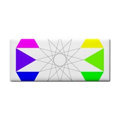 Rainbow Dodecagon And Black Dodecagram Cosmetic Storage Cases