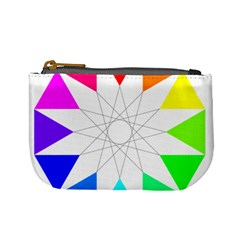Rainbow Dodecagon And Black Dodecagram Mini Coin Purses