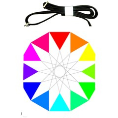 Rainbow Dodecagon And Black Dodecagram Shoulder Sling Bags