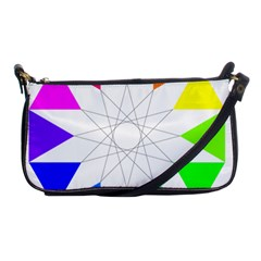 Rainbow Dodecagon And Black Dodecagram Shoulder Clutch Bags