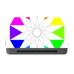 Rainbow Dodecagon And Black Dodecagram Memory Card Reader with CF
