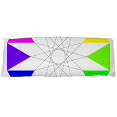 Rainbow Dodecagon And Black Dodecagram Body Pillow Case Dakimakura (two Sides)
