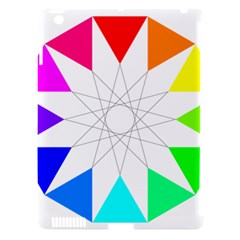 Rainbow Dodecagon And Black Dodecagram Apple Ipad 3/4 Hardshell Case (compatible With Smart Cover)