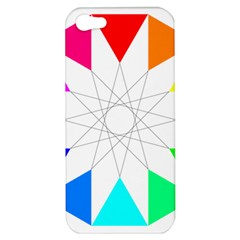 Rainbow Dodecagon And Black Dodecagram Apple Iphone 5 Hardshell Case