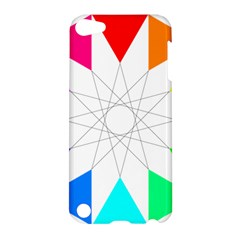 Rainbow Dodecagon And Black Dodecagram Apple iPod Touch 5 Hardshell Case