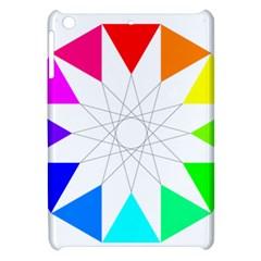 Rainbow Dodecagon And Black Dodecagram Apple Ipad Mini Hardshell Case
