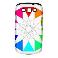 Rainbow Dodecagon And Black Dodecagram Samsung Galaxy S Iii Classic Hardshell Case (pc+silicone)