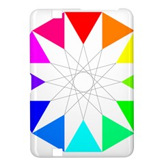 Rainbow Dodecagon And Black Dodecagram Kindle Fire Hd 8 9