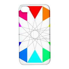 Rainbow Dodecagon And Black Dodecagram Apple iPhone 4/4S Hardshell Case with Stand