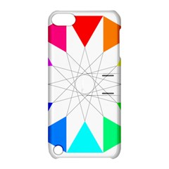 Rainbow Dodecagon And Black Dodecagram Apple Ipod Touch 5 Hardshell Case With Stand
