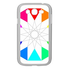 Rainbow Dodecagon And Black Dodecagram Samsung Galaxy Grand Duos I9082 Case (white)