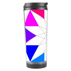 Rainbow Dodecagon And Black Dodecagram Travel Tumbler