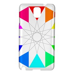 Rainbow Dodecagon And Black Dodecagram Samsung Galaxy Note 3 N9005 Hardshell Case