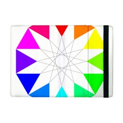Rainbow Dodecagon And Black Dodecagram Ipad Mini 2 Flip Cases
