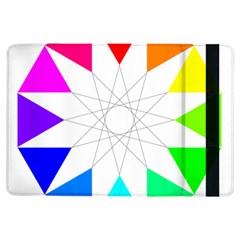 Rainbow Dodecagon And Black Dodecagram Ipad Air Flip