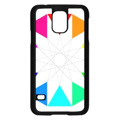 Rainbow Dodecagon And Black Dodecagram Samsung Galaxy S5 Case (black)