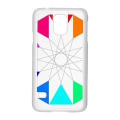 Rainbow Dodecagon And Black Dodecagram Samsung Galaxy S5 Case (white)