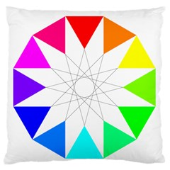 Rainbow Dodecagon And Black Dodecagram Standard Flano Cushion Case (two Sides)