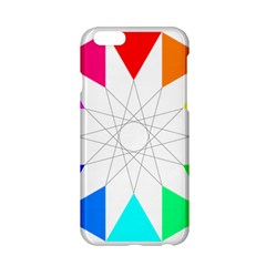 Rainbow Dodecagon And Black Dodecagram Apple iPhone 6/6S Hardshell Case