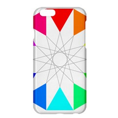 Rainbow Dodecagon And Black Dodecagram Apple Iphone 6 Plus/6s Plus Hardshell Case
