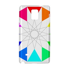 Rainbow Dodecagon And Black Dodecagram Samsung Galaxy Note 4 Hardshell Case