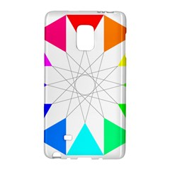 Rainbow Dodecagon And Black Dodecagram Galaxy Note Edge