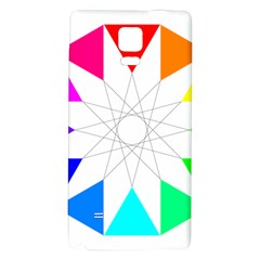Rainbow Dodecagon And Black Dodecagram Galaxy Note 4 Back Case