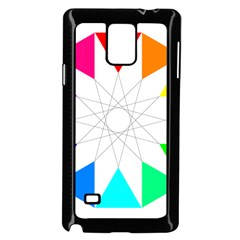 Rainbow Dodecagon And Black Dodecagram Samsung Galaxy Note 4 Case (black)