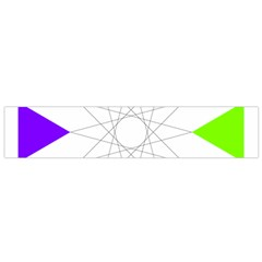 Rainbow Dodecagon And Black Dodecagram Flano Scarf (small)