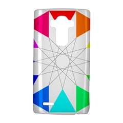 Rainbow Dodecagon And Black Dodecagram Lg G4 Hardshell Case