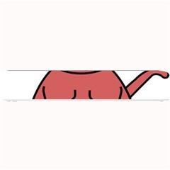 Cartoon Cat In Rainbow Socks Small Bar Mats