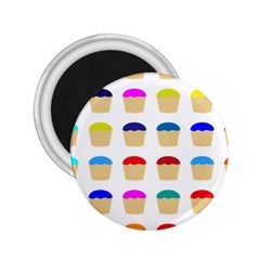 Colorful Cupcakes Pattern 2 25  Magnets