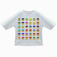 Colorful Cupcakes Pattern Infant/toddler T Shirts