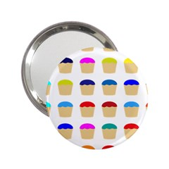 Colorful Cupcakes Pattern 2 25  Handbag Mirrors