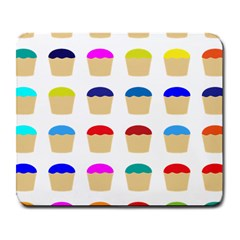 Colorful Cupcakes Pattern Large Mousepads