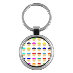 Colorful Cupcakes Pattern Key Chains (round)