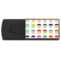 Colorful Cupcakes Pattern USB Flash Drive Rectangular (2 GB)